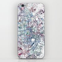 minneapolis iPhone & iPod Skins featuring Minneapolis map by MapMapMaps.Watercolors