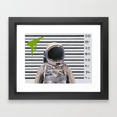 Mug Shot Framed Art Print