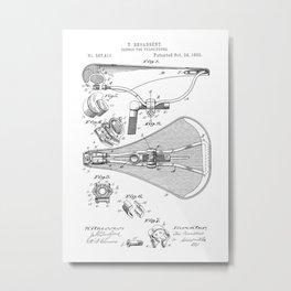 patent art Broadbent Saddle for Velocipedes 1893 Metal Print