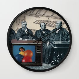 Judicial Ladder - Collage by Mackenna Morse Wall Clock