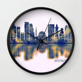 Antalya Skyline Wall Clock