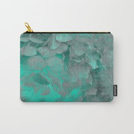 450 Turquoise Abstract Hydrangea Carry-All Pouch