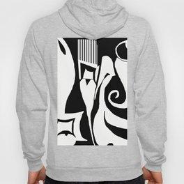 90 Abstract Print Artwork_White Hoody