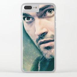 Derek in Green Clear iPhone Case
