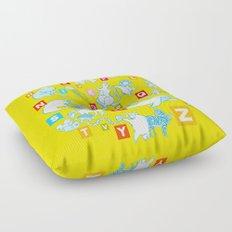 Yellow Alphabet Floor Pillow