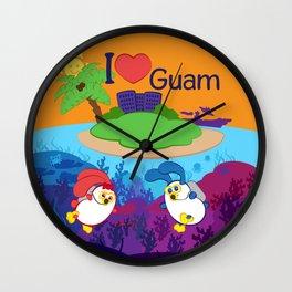 Ernest & Coraline | I love Guam Wall Clock