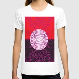 Red, white, black - and lilac ... T-shirt