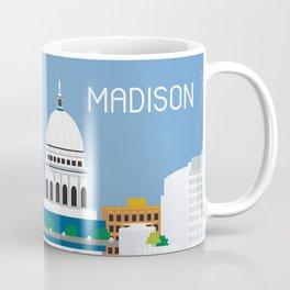 Madison, Wisconsin - Skyline Illustration by Loose Petals Coffee Mug