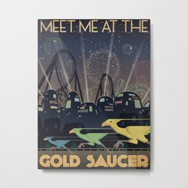Final Fantasy VII Gold Saucer Travel Poster Metal Print