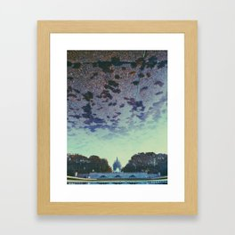 Reflecting On the Capital Framed Art Print