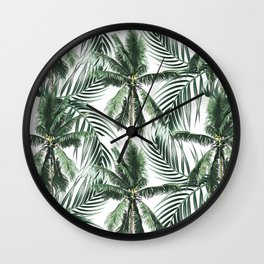 South Pacific palms Wall Clock