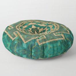 Sri Yantra  / Sri Chakra Malachite and gold Floor Pillow