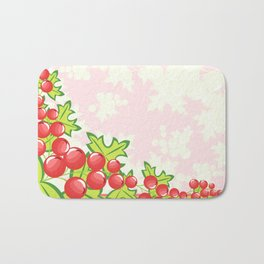 Frame from abstract berries Bath Mat