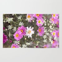 daisy Area & Throw Rugs featuring Daisy by LebensART Photography
