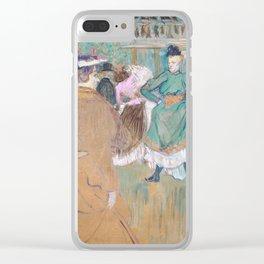 Henri de Toulouse-Lautrec Clear iPhone Case