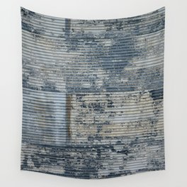 Warehouse District -- Vintage Industrial Farm Chic Abstract Wall Tapestry