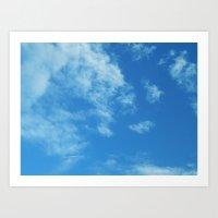 Blue Skies Above Art Print