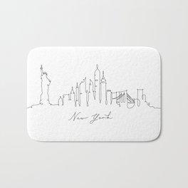 Pen line silhouette New York Bath Mat