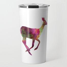 Female Deer 01 in watercolor Travel Mug