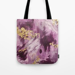 Pink, Purple and Gold Abstract Glam Tote Bag