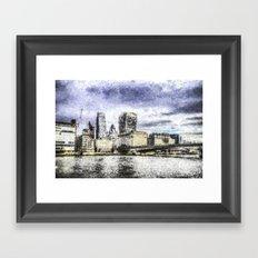 City of London Art Framed Art Print