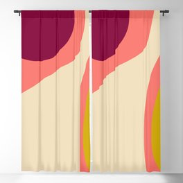 abstract composition 2 - modern blush pink Blackout Curtain