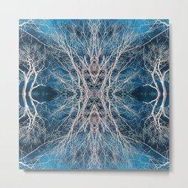 Abstract Mandala Forest 1967 Metal Print