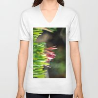 plant V-neck T-shirts featuring plant by  Agostino Lo Coco