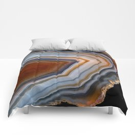 Layered agate geode 3163 Comforters