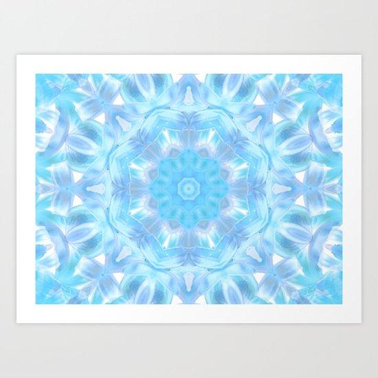 Soft Shades of Color Kaleidoscope Art Print
