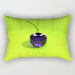 Purple Glass Cherry Rectangular Pillow