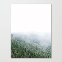 Mist and Trees Canvas Print
