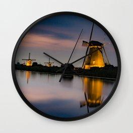 Dutch Wind Mills Wall Clock
