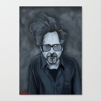 tim burton Canvas Prints featuring Tim Burton by Kostas Roussos