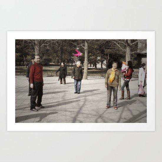Jianzi Art Print