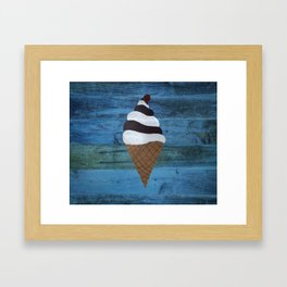 Country Ice Cream Framed Art Print