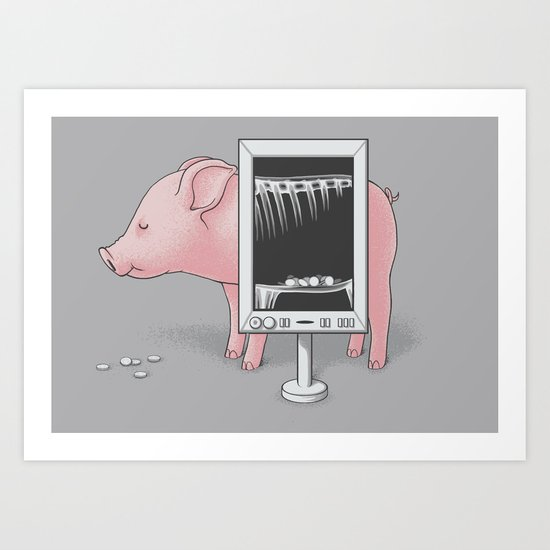 Saving money Art Print