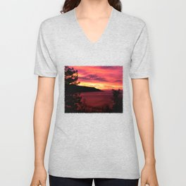 Sunset * Big Sur, California Unisex V-Neck