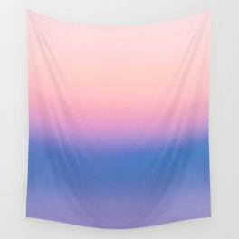 Ombre, Blue, Pink, Abstract, Nature, Art, Modern, Wall art Print Wall Tapestry