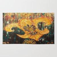 fleur de lis Area & Throw Rugs featuring Fleur De Lis by Crystal Nero