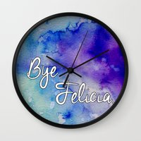 friday Wall Clocks featuring Friday by Jamie Marie Lyon