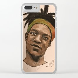 Watercolor Basquiat Clear iPhone Case