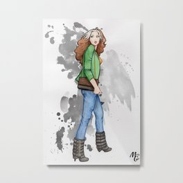 Rogue / Malicia - Watercolor Metal Print