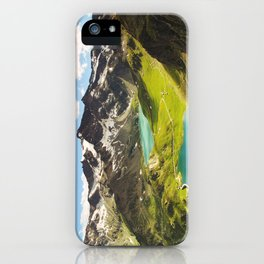 Italian Landscape Mountains and Lake iPhone Case