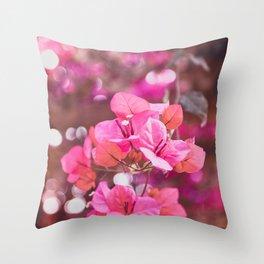 Fresh & Colourful Bougainvillea Throw Pillow