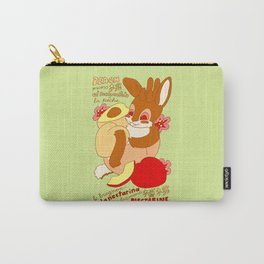 Jackalope and Peach Carry-All Pouch