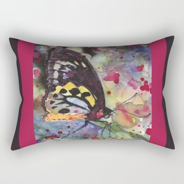 """Rainbow Abstract Butterfly With Colorful Background """"Colorful Butterfly 2"""" Rectangular Pillow"""