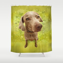 PARKER POSEY (kiwi) puffy cloud series Shower Curtain