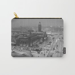 Finland City (Black and White) Carry-All Pouch