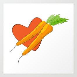 Carrot Heart Art Print